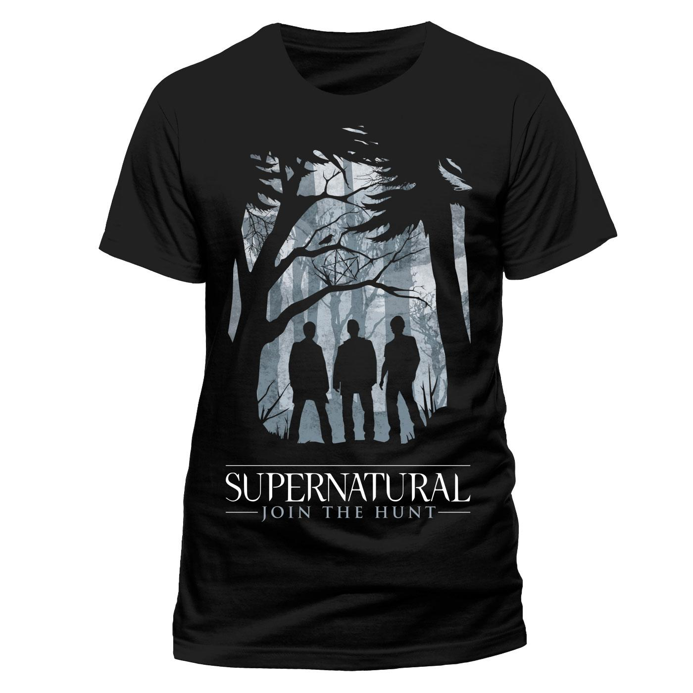 Supernatural T-Shirt Group Outline Size S