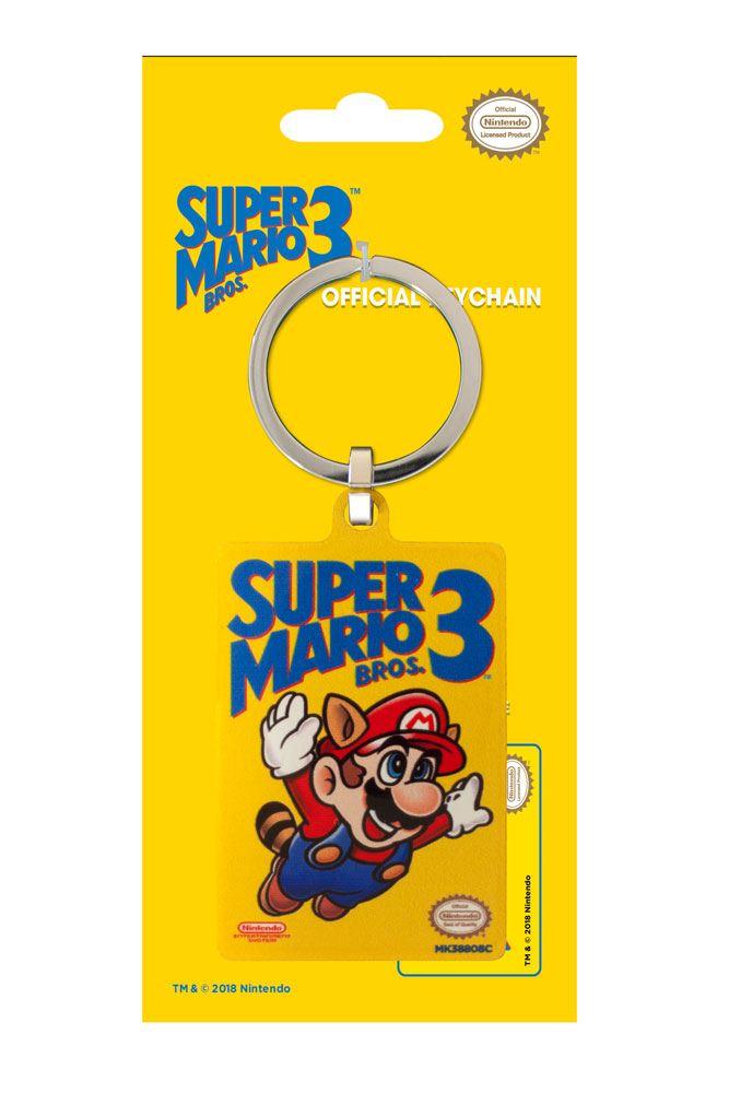 Super Mario Bros. 3 Metal Keychain NES Cover 6 cm