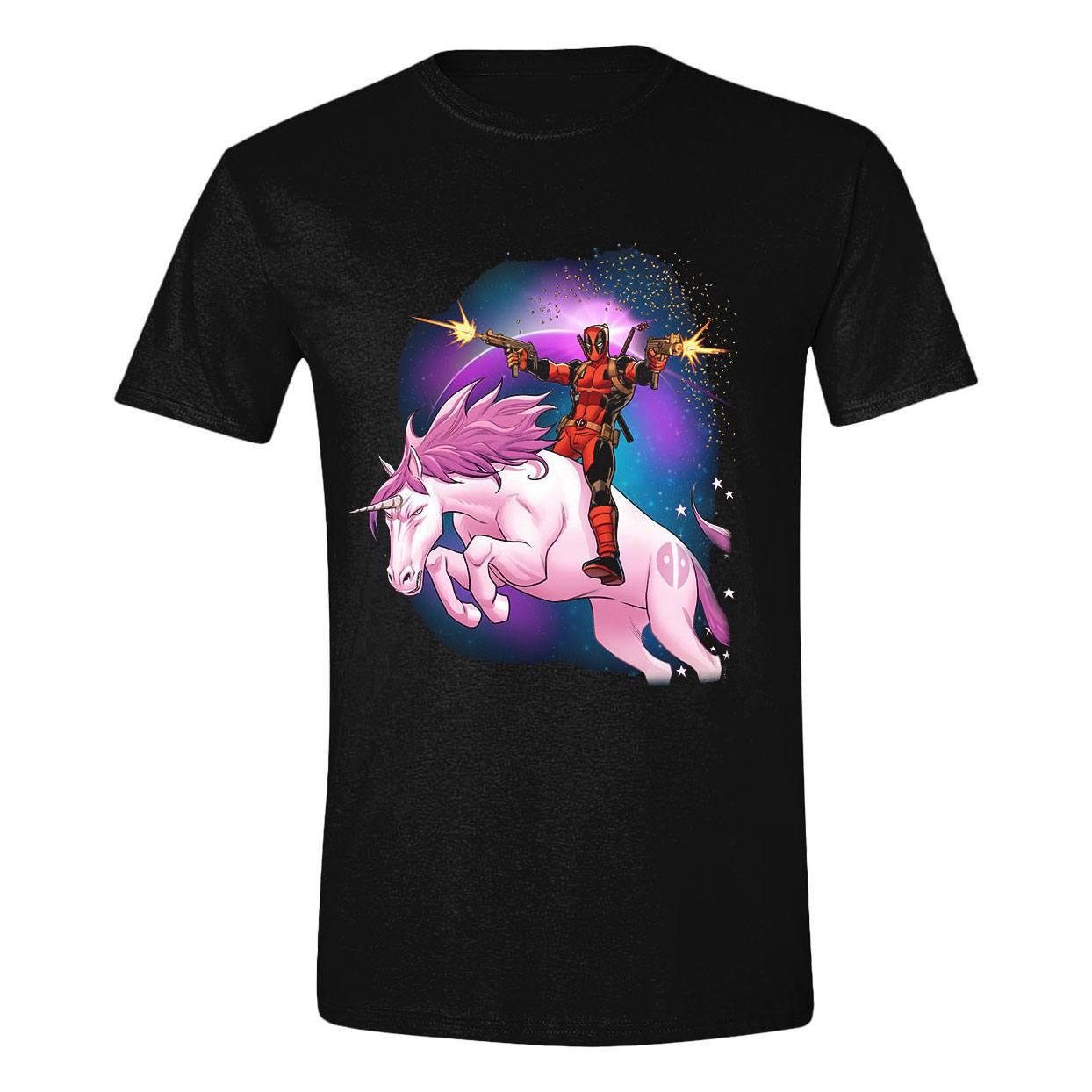 Deadpool T-Shirt Space Unicorn Size L