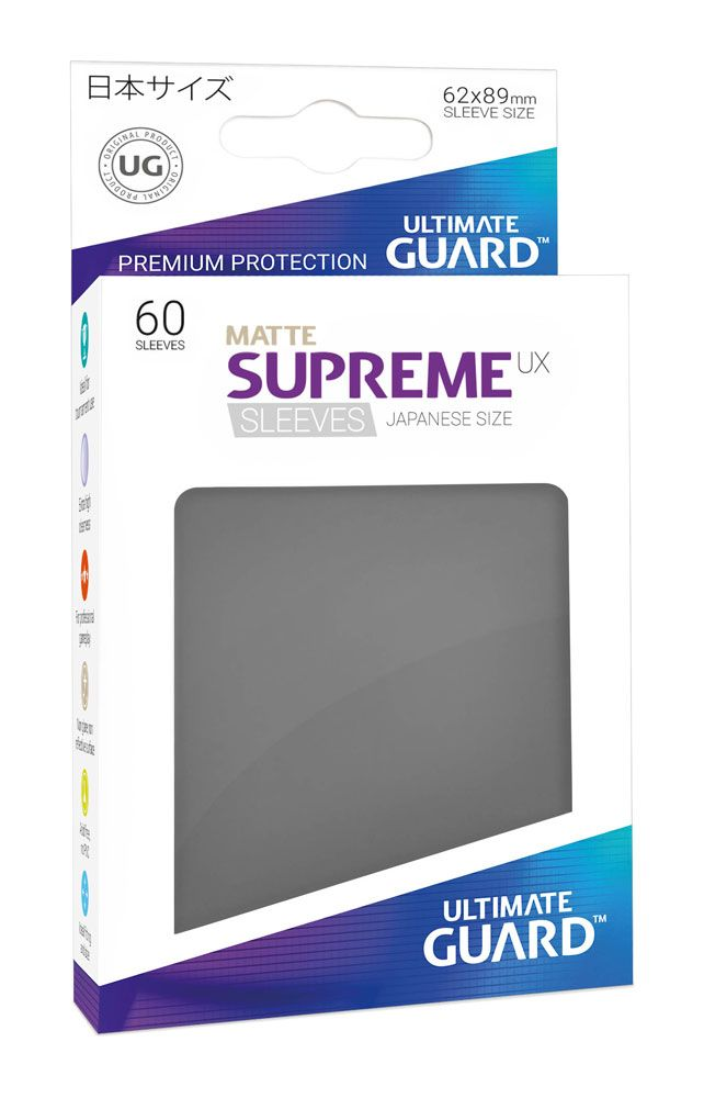 Ultimate Guard Supreme UX Sleeves Japanese Size Matte Dark Grey (60)