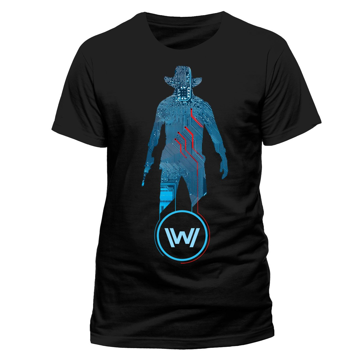 Westworld T-Shirt Blue Man Size L