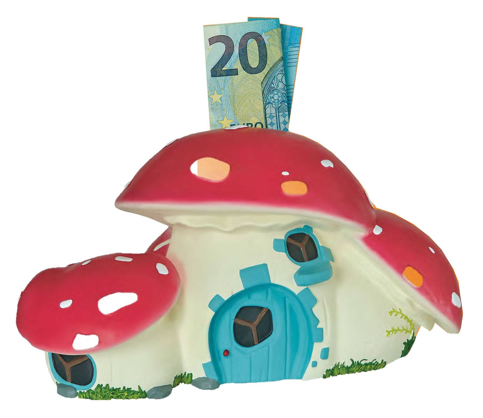 Digby Dragon Figure Bank Mushroom House 15 cm