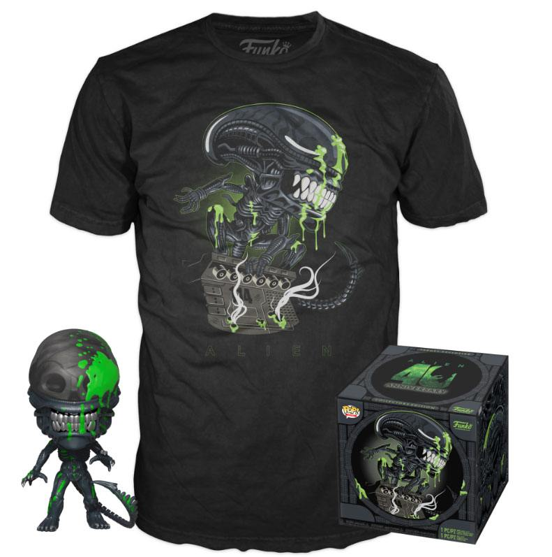 Alien POP! & Tee Box 40th Xenomorph heo Exclusive Size L