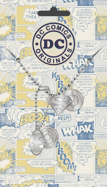 DC Comics Dog Tags with ball chain Logo