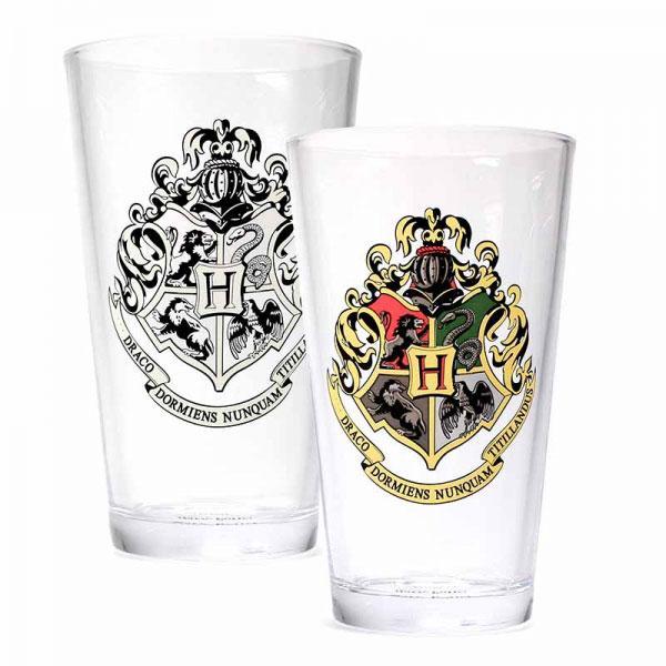 Harry Potter Cold Changing Glass Hogwarts Crest