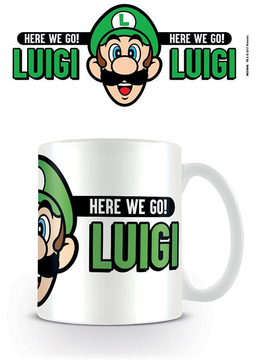 Super Mario Mug Here We Go Luigi