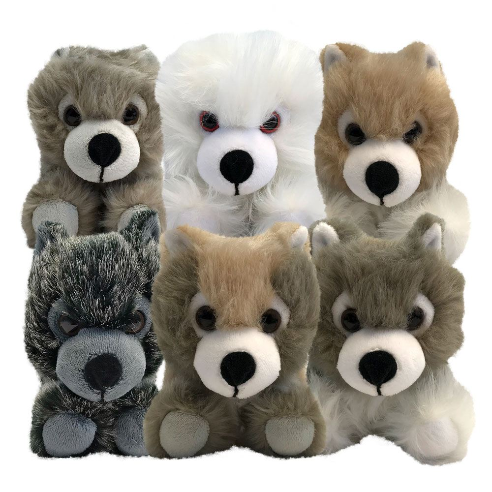 Game of Thrones Plush Figures Direwolf Prone Cub Box Set 2018 SDCC Exclusive