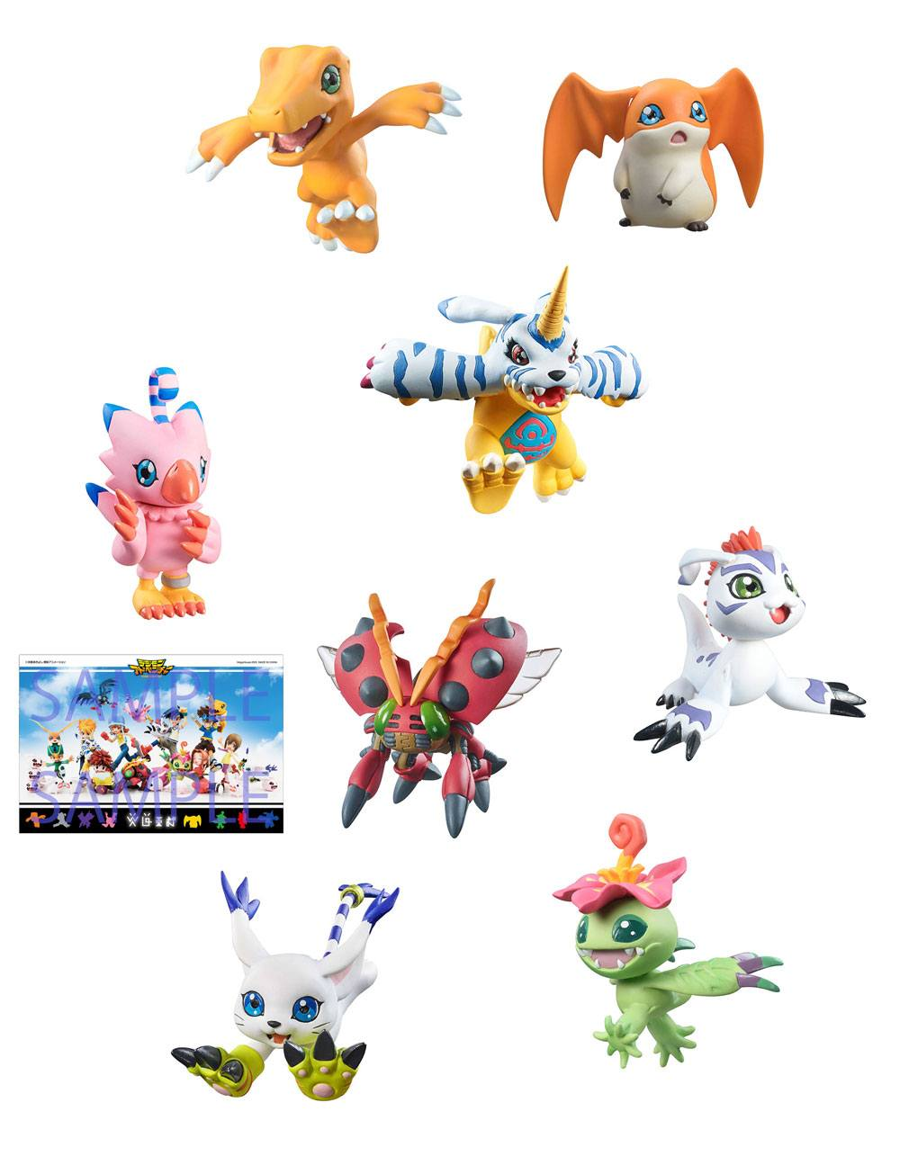 Digimon Adventure Digicolle! Series Trading Figure 8-Pack Mix Special Edition 5 cm