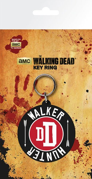 Walking Dead Rubber Keychain Walker Hunter 7 cm