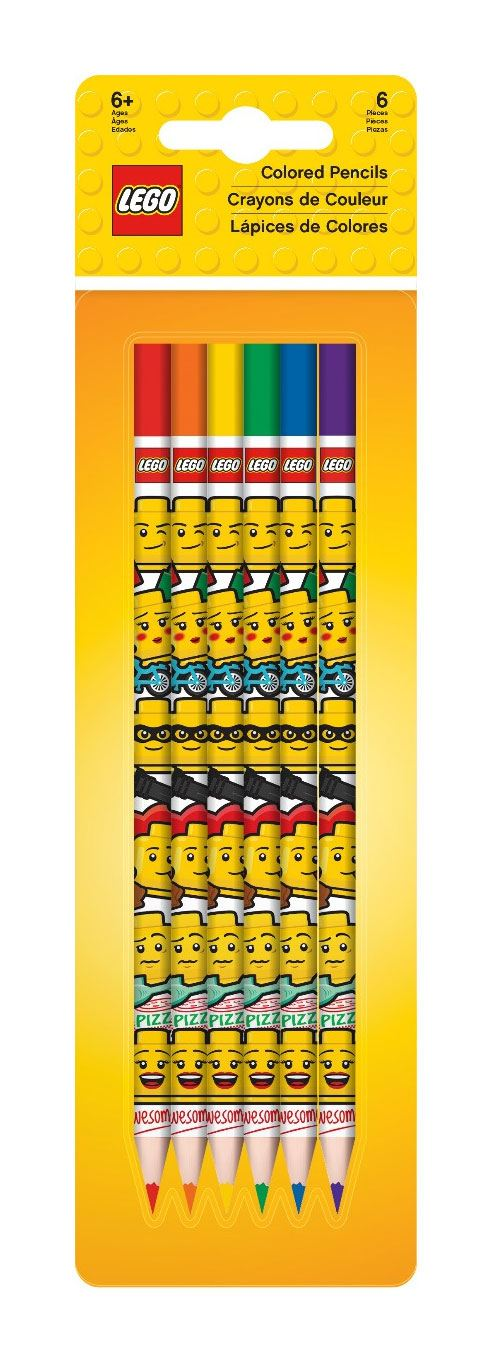 LEGO Iconic Colored Pencils 6-Pack