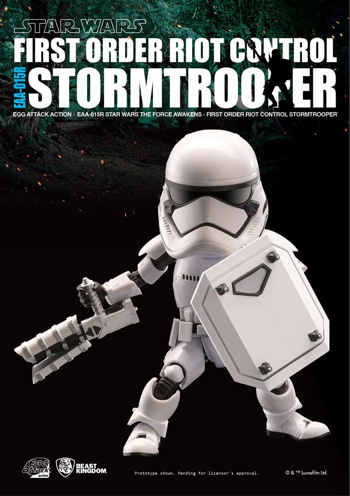 Star Wars Episode VII Egg Attack Action Figure Riot Control Stormtrooper 15 cm