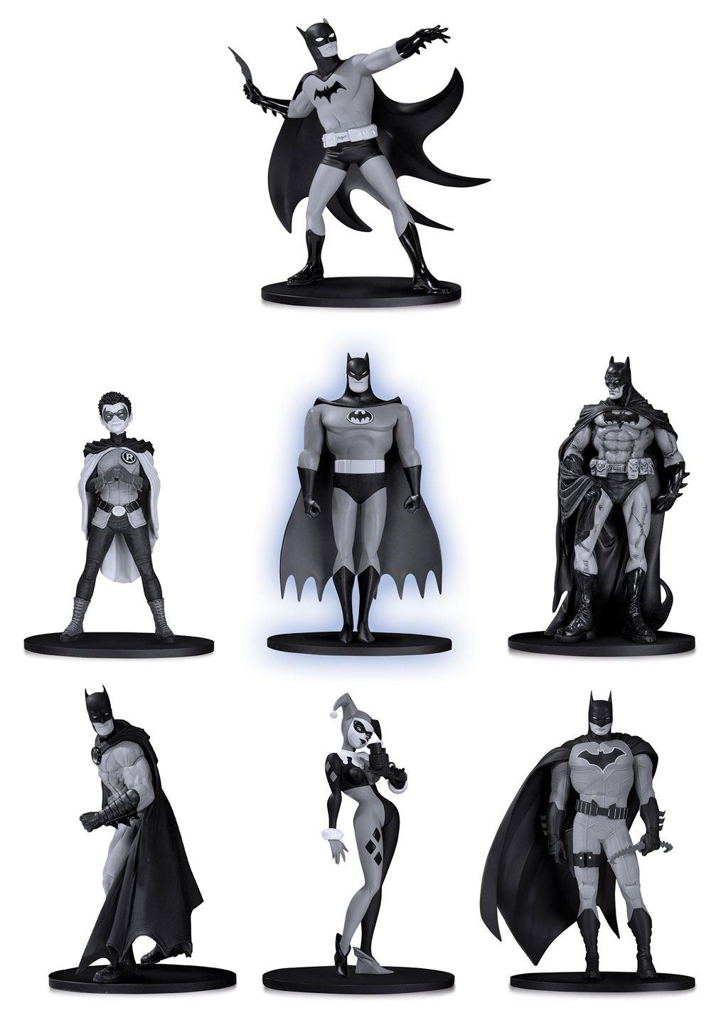 Batman Black & White PVC Minifigure 7-Pack Box Set #2 10 cm