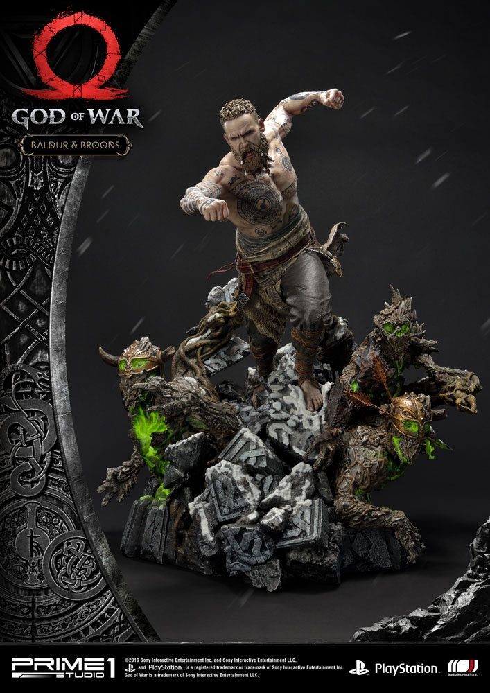 God of War (2018) Statue Baldur & Broods 62 cm