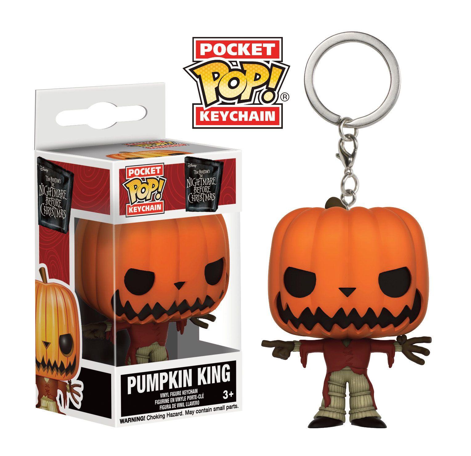 Nightmare Before Christmas Pocket POP! Vinyl Keychain Pumpkin King 4 cm