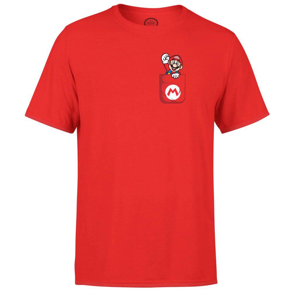 Nintendo T-Shirt Mario Pocket Size L