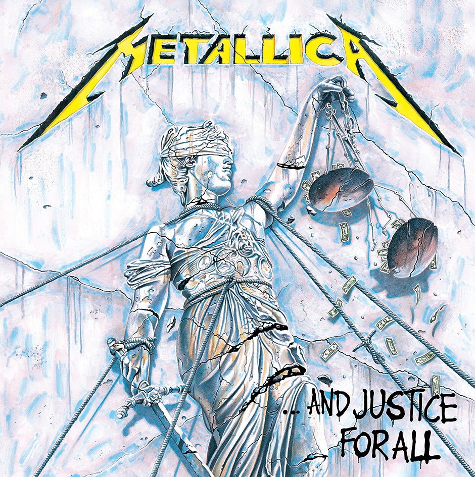 Metallica Framed Canvas Print Justice for All 40 x 40 cm