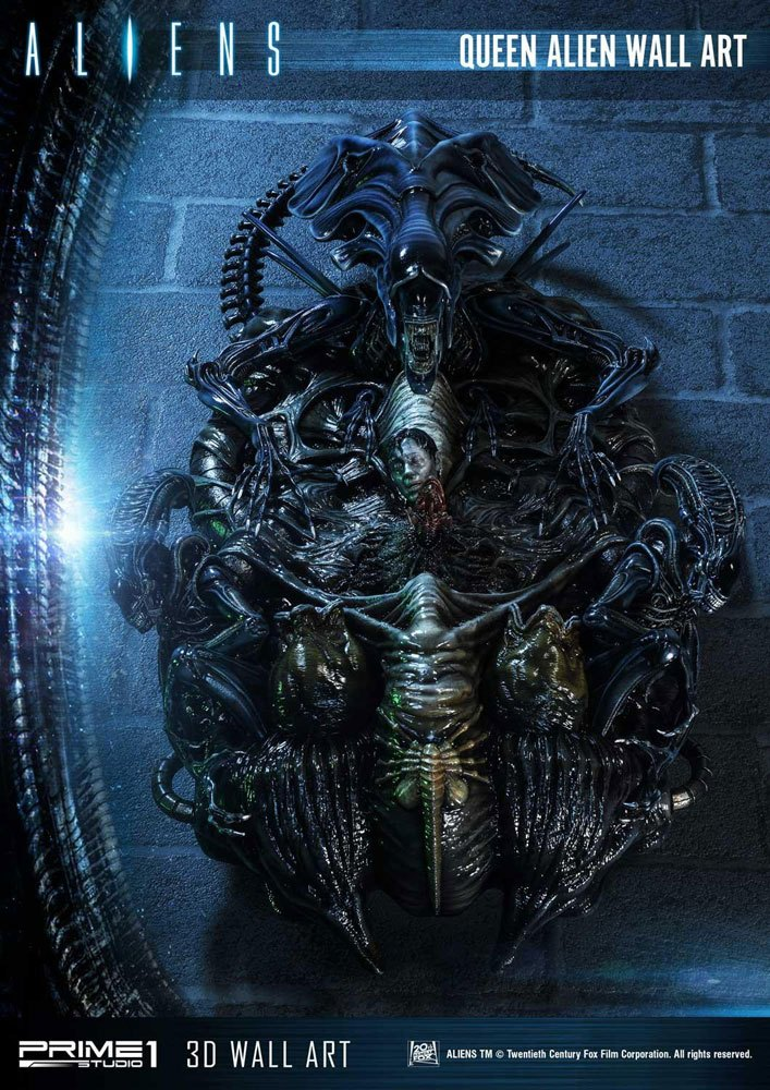 Aliens 3D Wall Art Queen Alien 33 x 57 cm