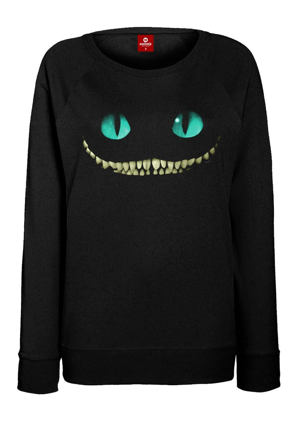 Alice in Wonderland Ladies Sweater Smile Size S