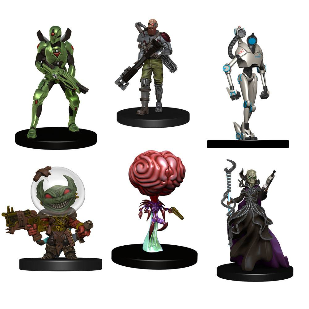 Starfinder Battles pre-painted Miniatures 6-Pack Starter Pack: Monster Pack