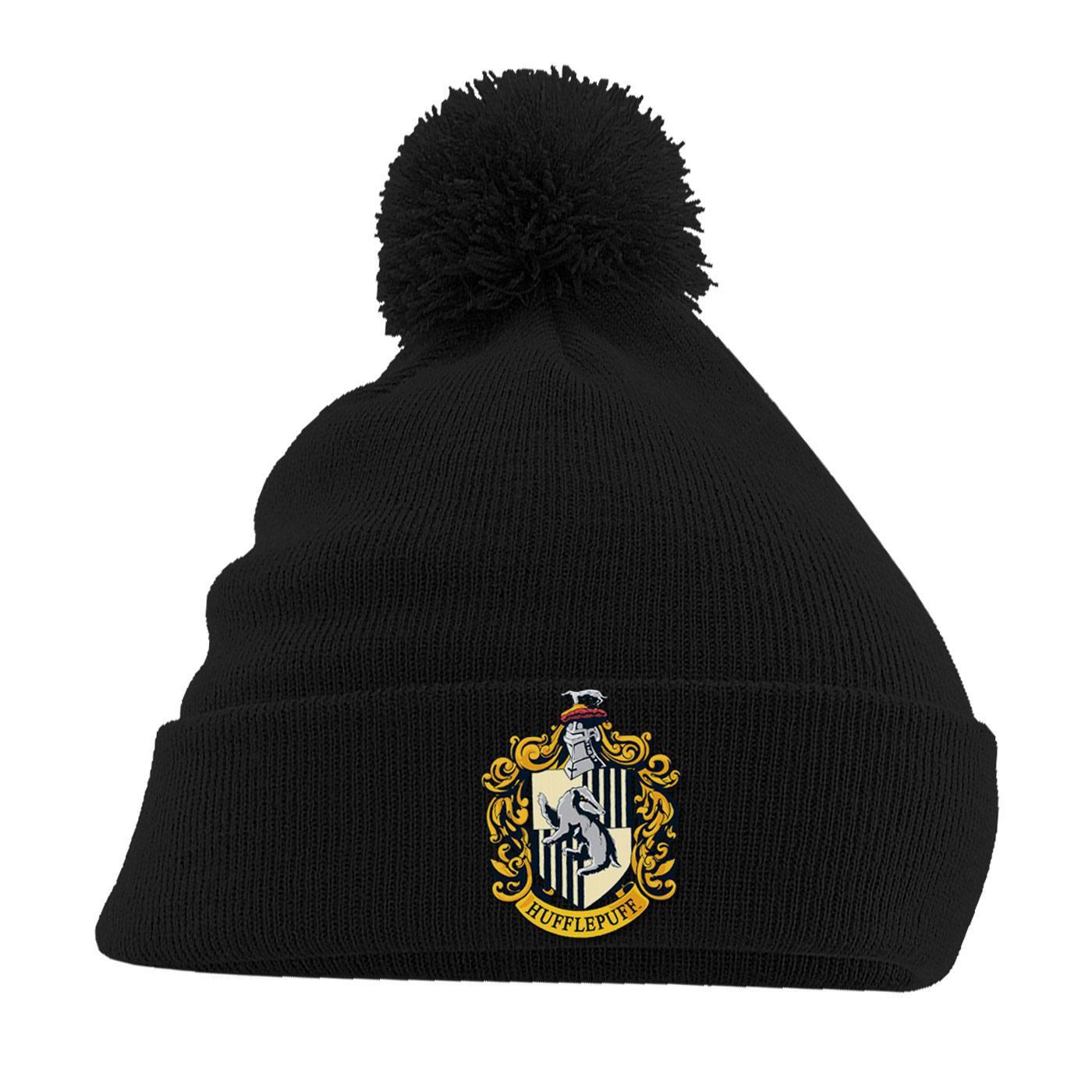 Harry Potter Pom Pom Beanie Hufflepuff Crest