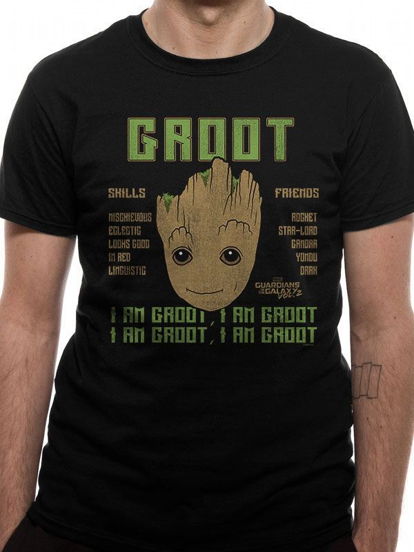 Guardians of the Galaxy 2 T-Shirt Groot Skills Size M