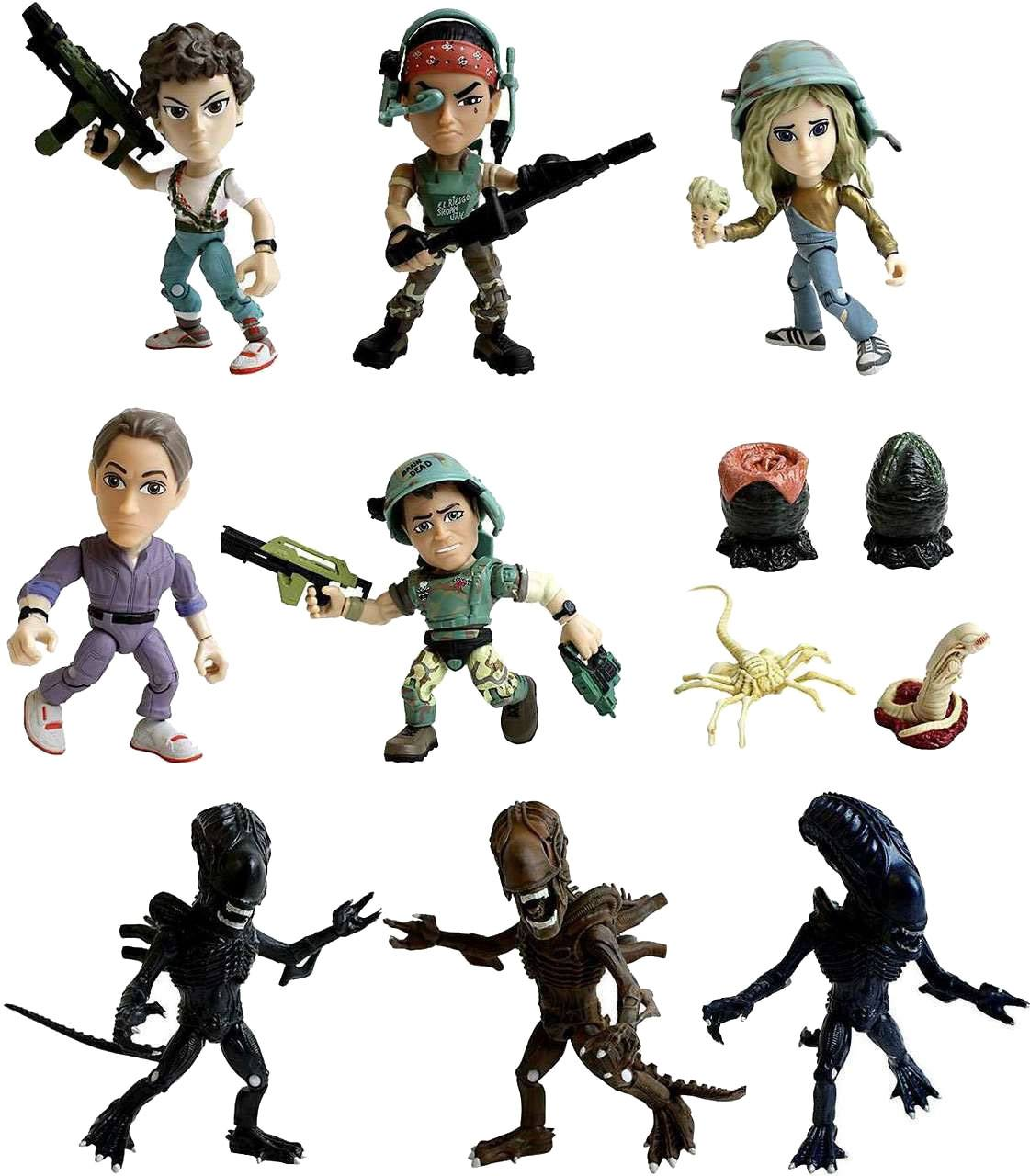 Aliens Action Vinyl Mini Figures 8 cm Wave 1 Display (12)