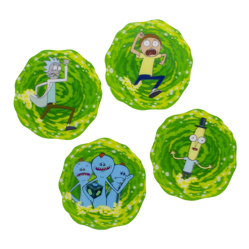 Rick & Morty Lenticular Coaster 4-Pack