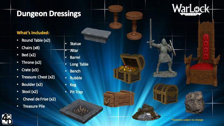 WarLock™ Tiles: Dungeon Dressings