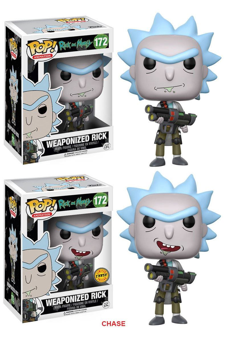 Rick and Morty POP! Animation Figures Weaponized Rick 9 cm Assortment (6)