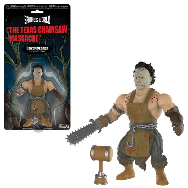 Texas Chainsaw Massacre Savage World Action Figure Leatherface 10 cm