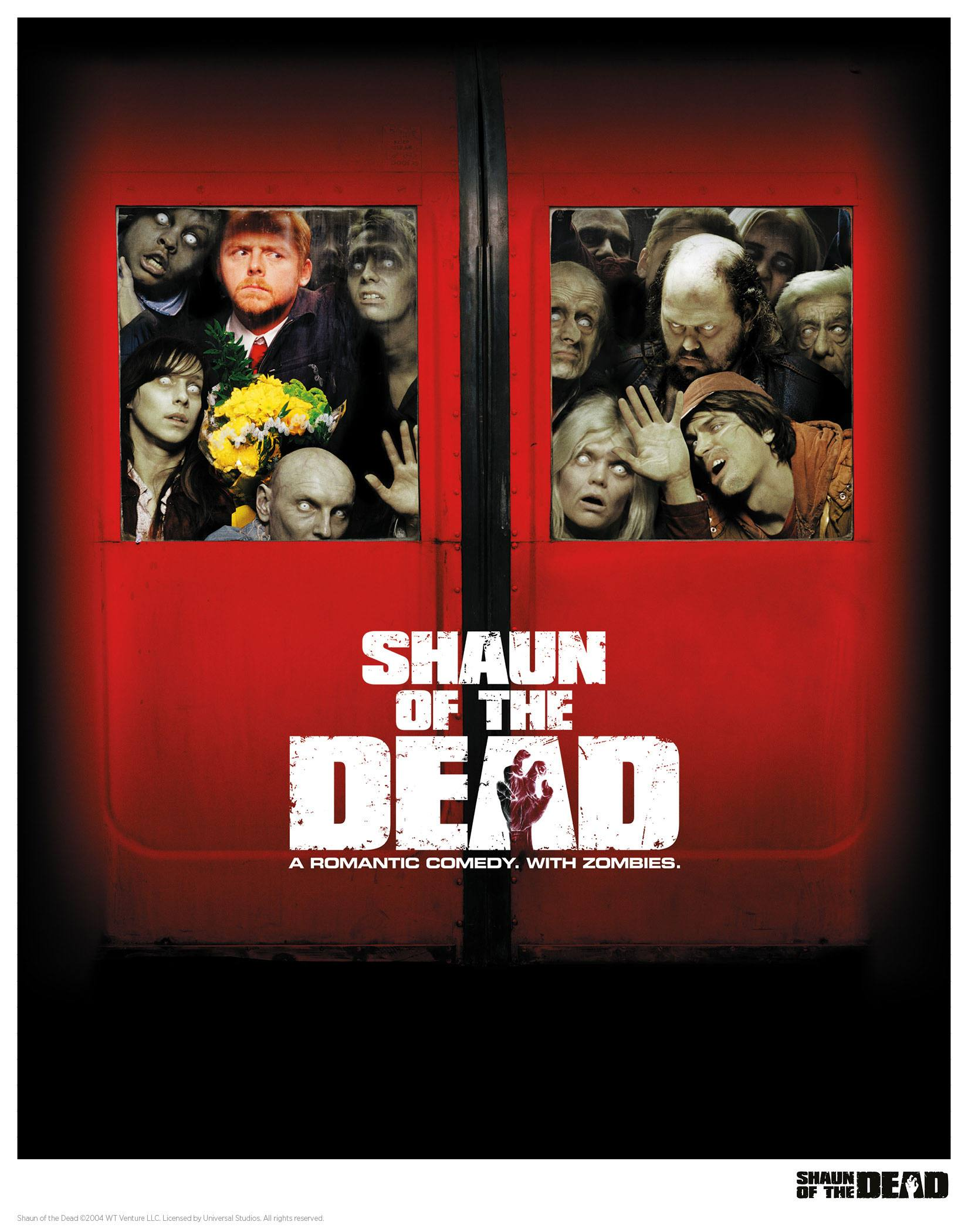 Shaun of the Dead Art Print Squashed 35 x 28 cm