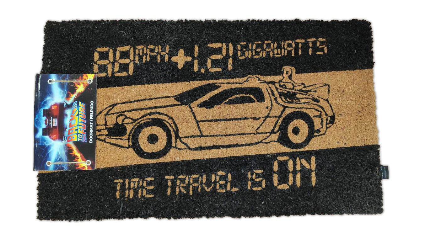 Back to the Future Doormat Time Machine 43 x 72 cm