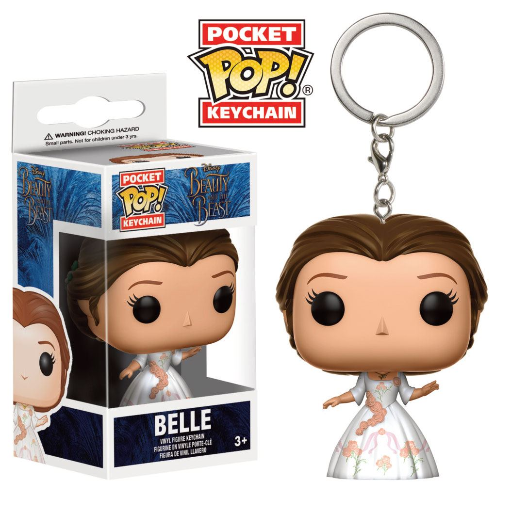 Beauty and the Beast Pocket POP! Vinyl Keychain Celebration Belle 4 cm