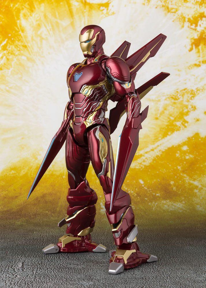 Avengers Infinity War S.H. Figuarts Action Figure Iron Man MK50 Nano Weapons Tamashii Web Ex. 16 cm