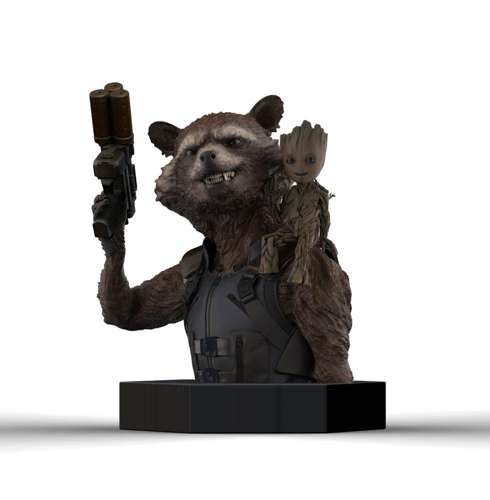 Guardians of the Galaxy Vol. 2 Bust 1/6 Rocket Raccoon & Groot 16 cm