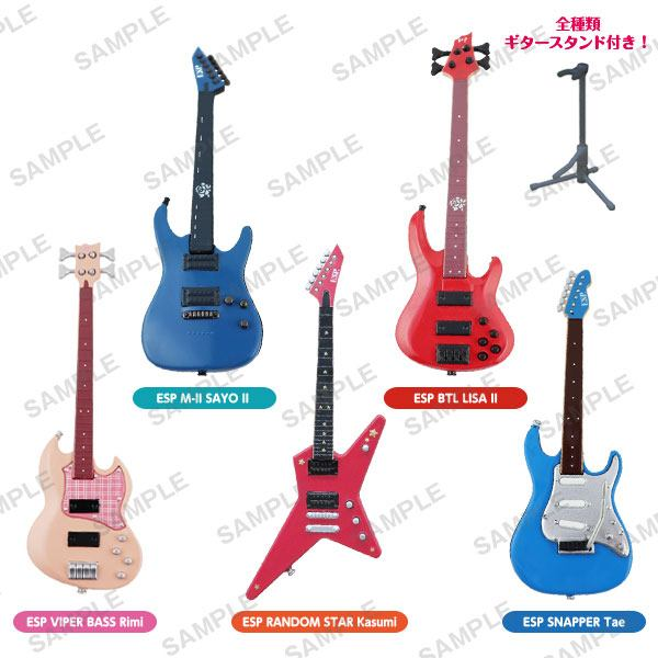 BanG Dream! Trading Figure 10 cm Guitar & Bass Collection Assortment (6)