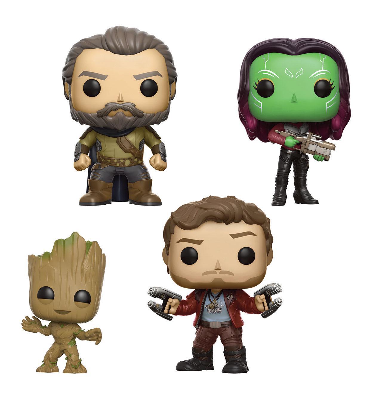 Guardians of the Galaxy 2 POP! Marvel Vinyl Figures 4-Pack Set II 9 cm