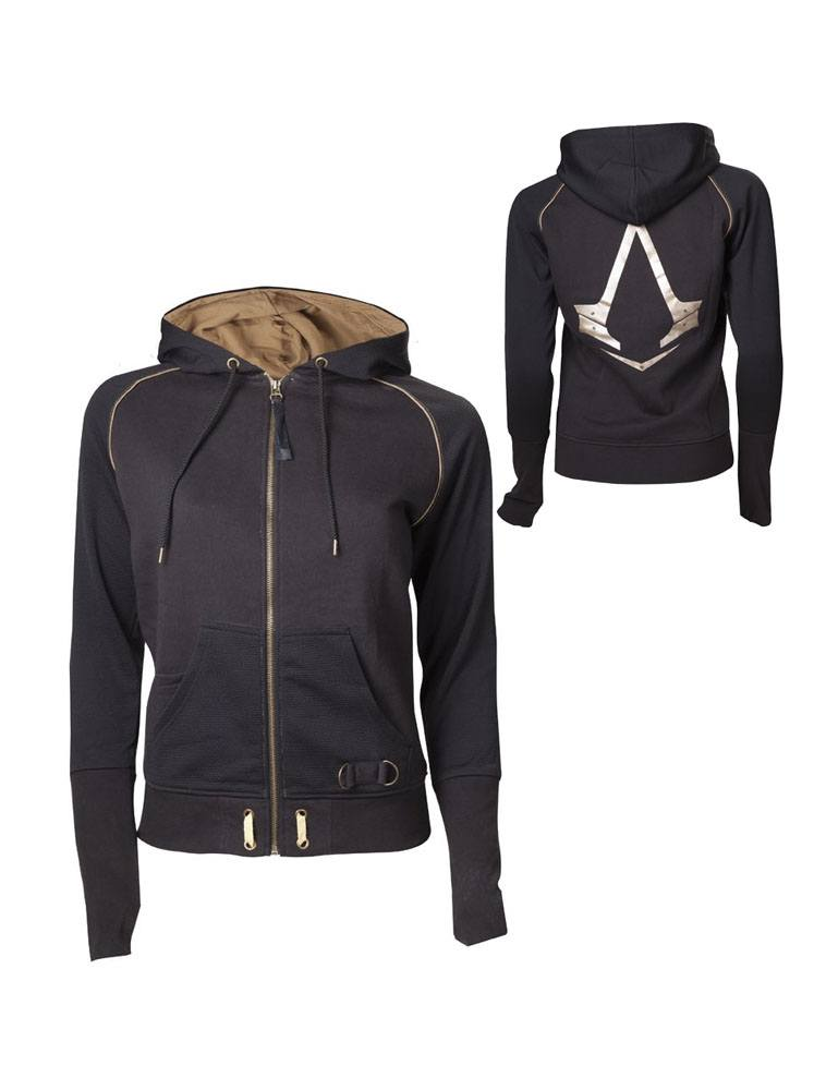 Assassin's Creed Syndicate Ladies Zipper Hoodie Logo Size XL