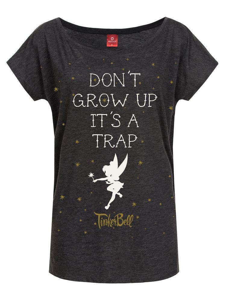 Disney Ladies T-Shirt Don't Grow Up Size L