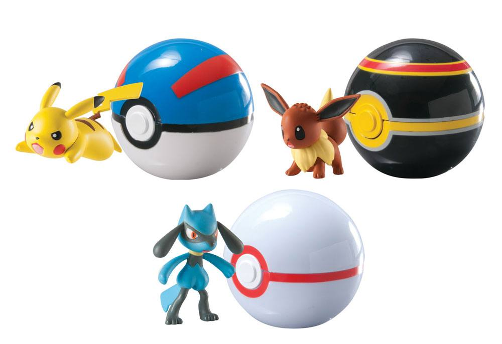 Pokemon Clip´n´Carry Poke Ball Wave D4 Assortment (6)