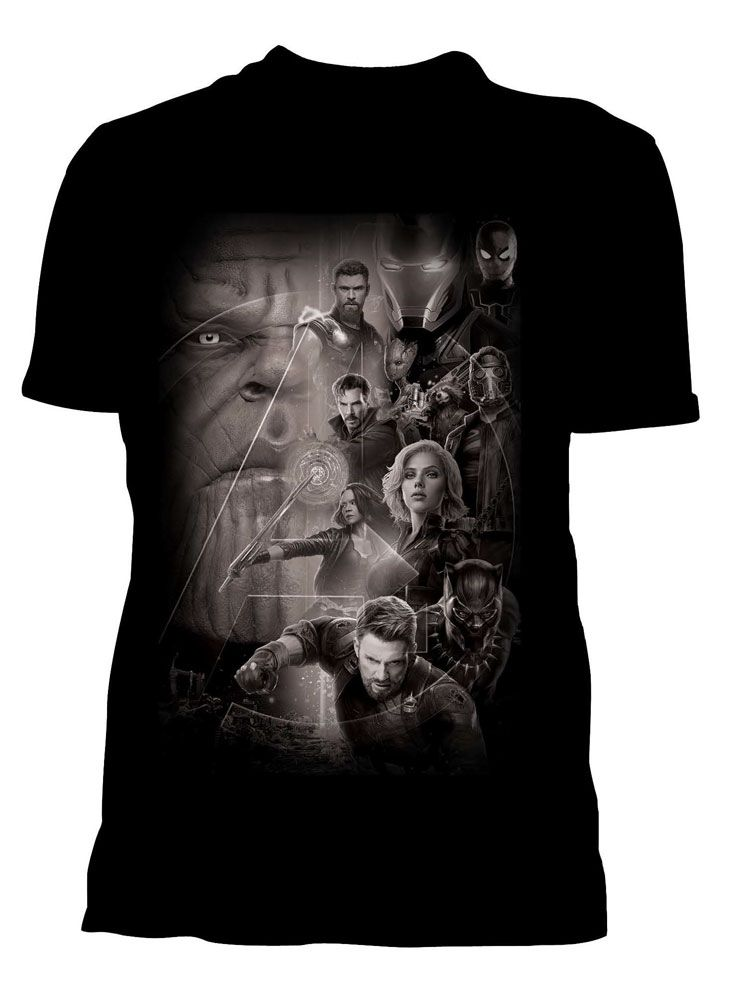 Avengers Infinity War Ladies T-Shirt Group Size XL