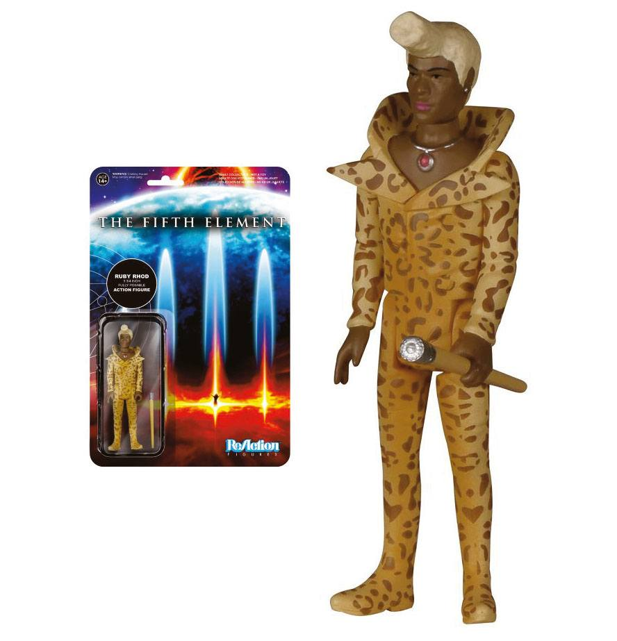 Fifth Element ReAction Action Figure Ruby Rhod 10 cm