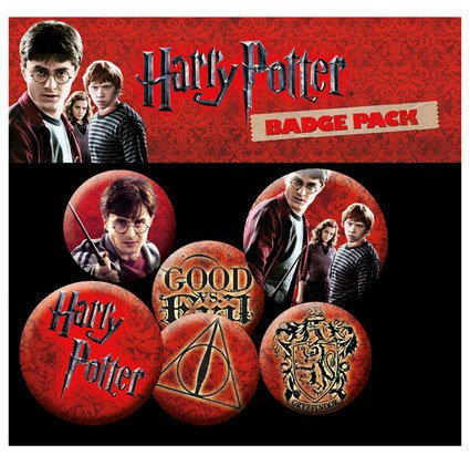 Harry Potter Pin Badges 6-Pack Icons