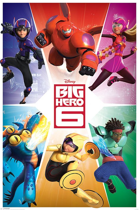 Big Hero 6 Poster Pack Team 61 x 91 cm (5)