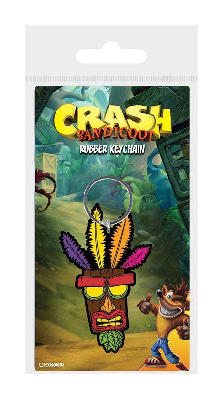 Crash Bandicoot Rubber Keychain Aku Aku 6 cm