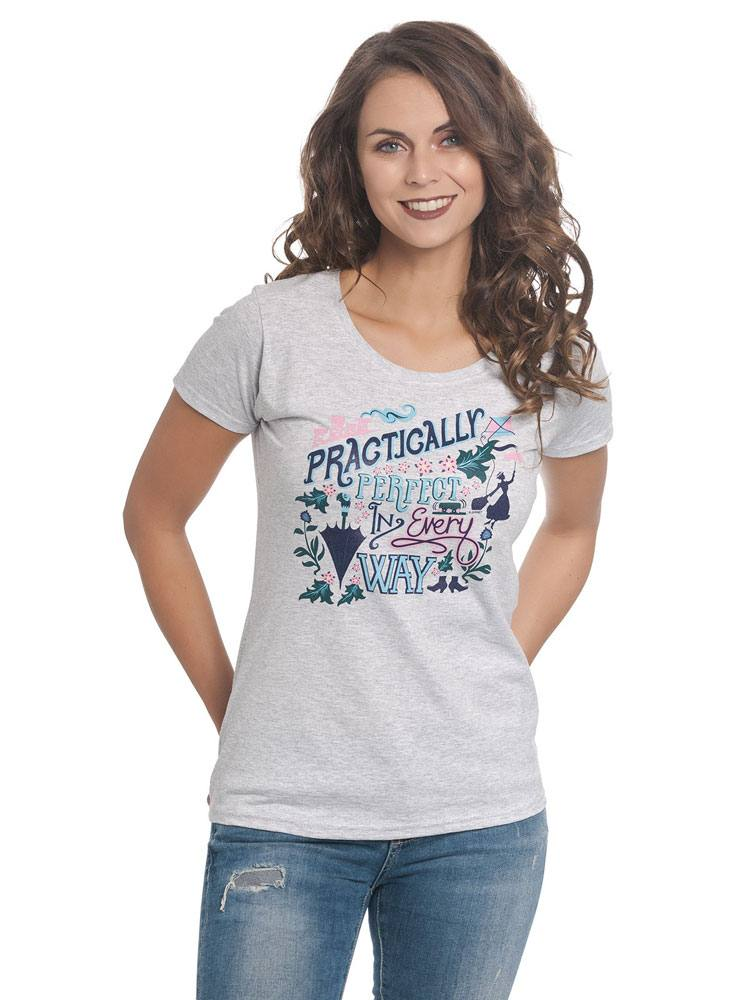 Mary Poppins Ladies T-Shirt Practically Perfect Size L