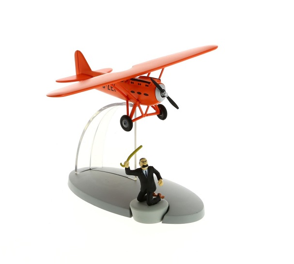 Kuifje vliegtuigen Tin Tin Planes: Müller's red plane