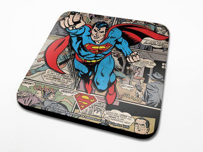 DC Comics Coaster Superman Montage Onderzetter per stuk