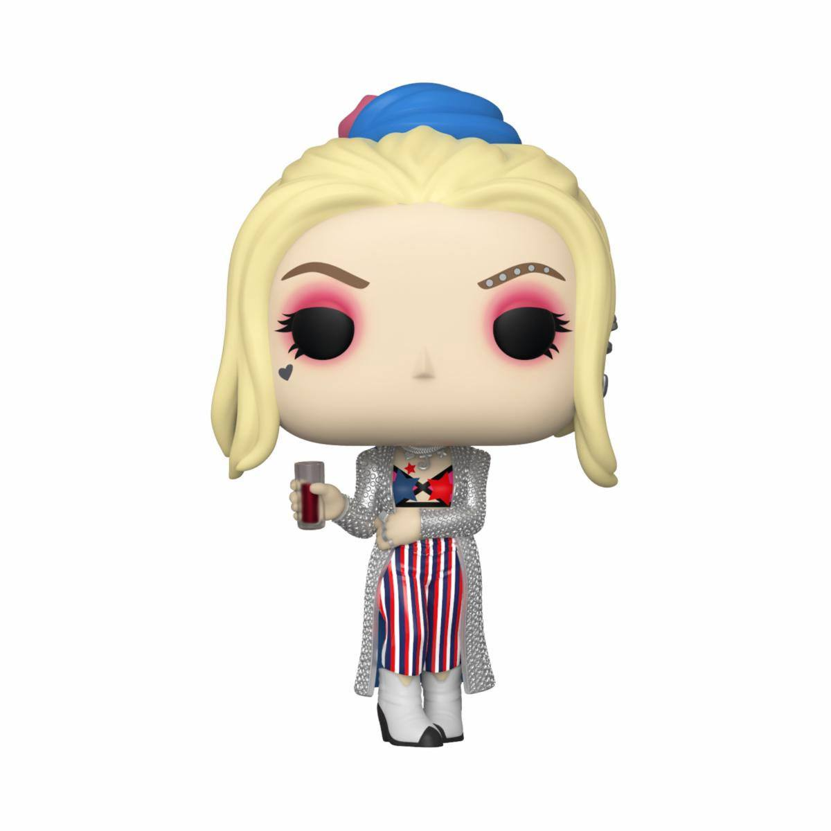 Birds of Prey POP! Heroes Vinyl Figure Harley Quinn (Black Mask Club) 9 cm