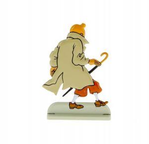 Kuifje De zaak Zonnebloem TinTin Flat Alloy Figurine